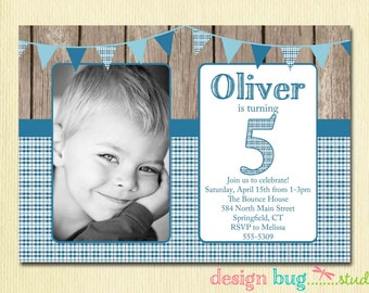 Rainbow First Birthday Invitation Baby Girl DIY Photo - Birthday invitation messages for 5 year old boy