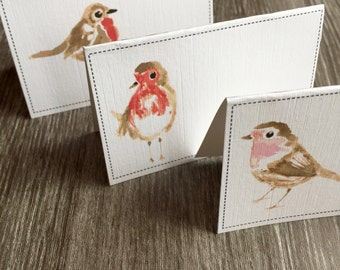 Christmas Robin Printed Place Cards - Pack of 6