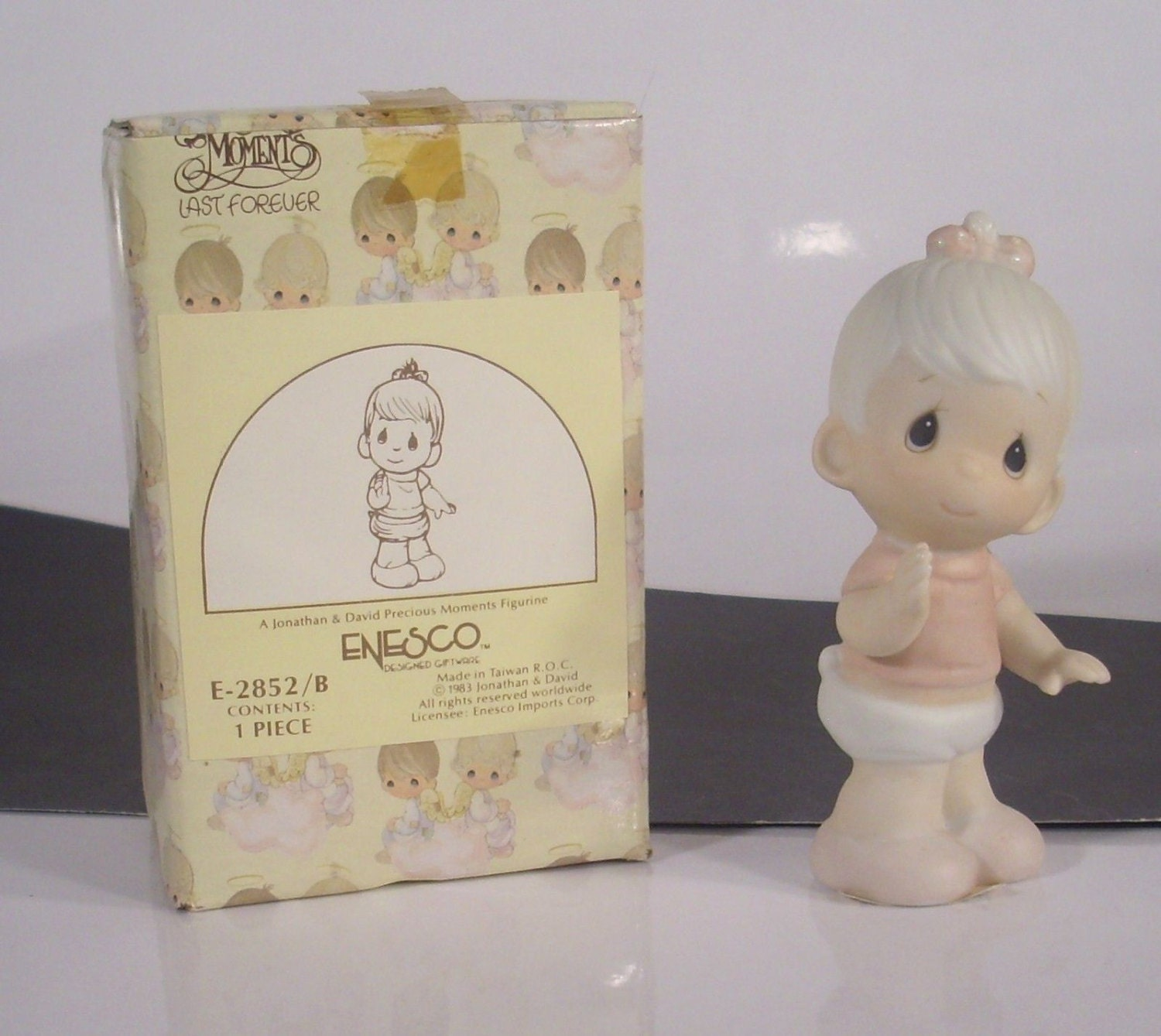 Precious Moments Baby Shower Cakes: Vintage Precious Moments Baby Girl Figurine Baby Shower Cake