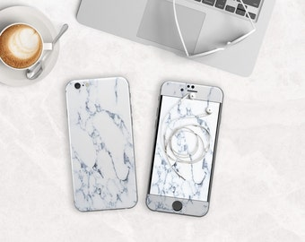 Elegant Bianco Sivec White Marble Skin Decal for Phone Case / Vinyl Skin for iPhone 6s , iPhone 6s Plus , iPhone 7 , iPhone 7 Plus