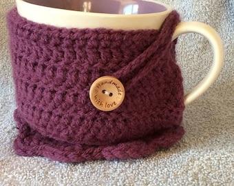 Mug and cosy with matching coaster