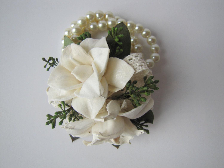 Magnolia Wristlet Corsage Keepsake Wrist Corsage Prom