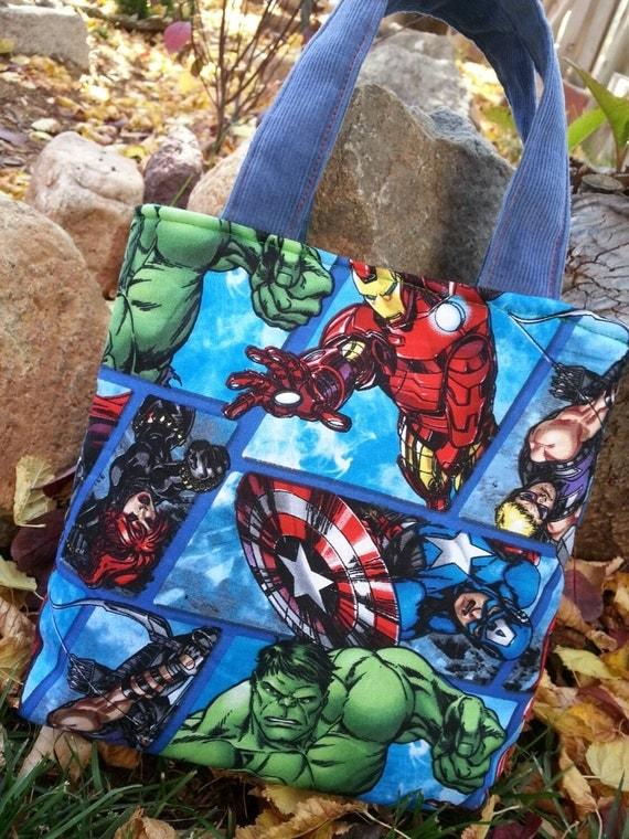 Ready to Ship!  Toddler Tote Bag, Boys Super Hero Bag