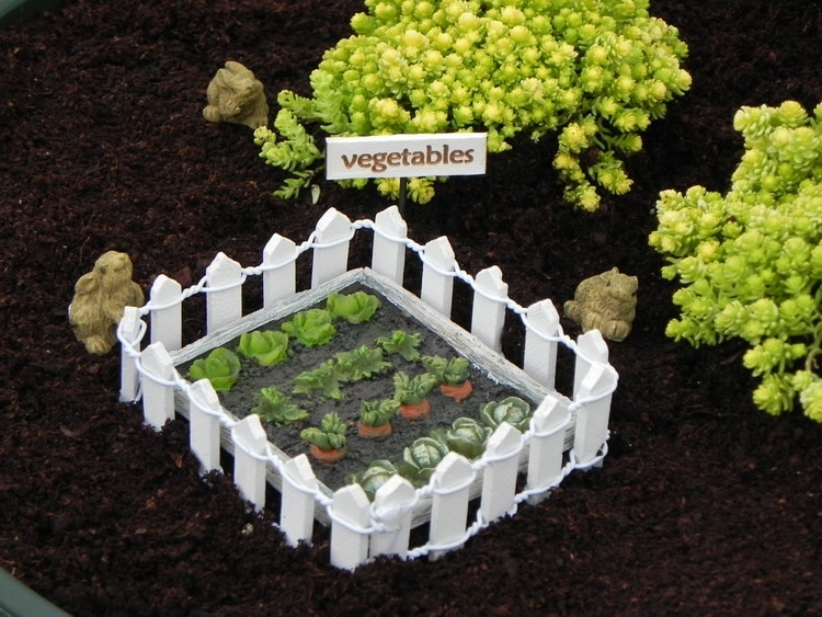 Fairy Garden Vegetable Patch Sign Miniature By
