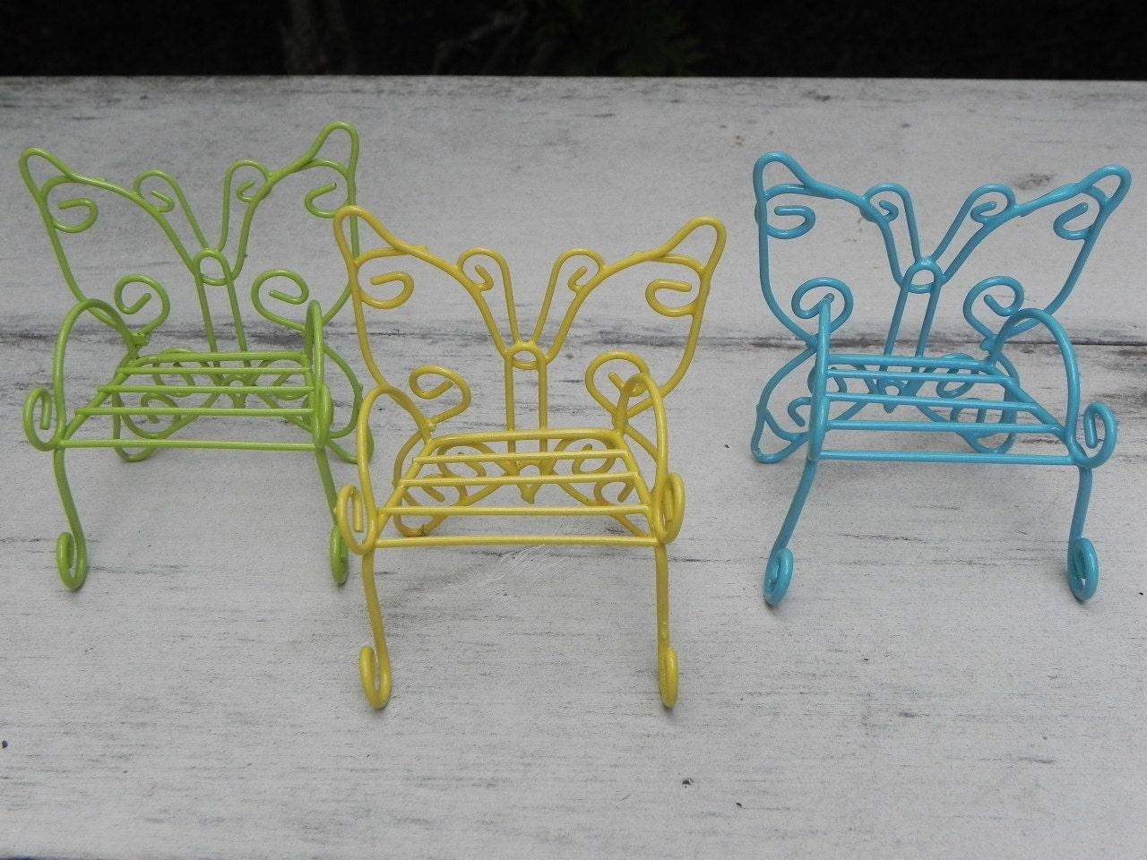 Garden Furniture And Accessories fairy garden furniture one butterfly chair miniature wire