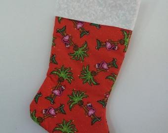Flamingo Christmas stocking