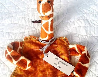 Stanely/Wally /Frederik The Giraffe Raggie , Bedtime companion,Blankie,Sookie Raggie, Sensory Toy