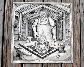 The Builder-Original Print