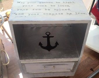 Nautical Themed Side Table