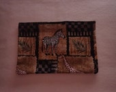 Sinus Heating Pad, Cold Pack, Flax Seed Heating Pad, Natural Heating Pad, African Animals, African Plains, Zebra, Giraffe, Ferns, Tribal