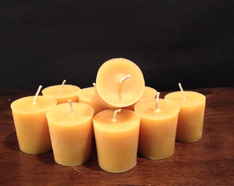 Natural votive candle