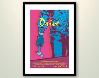 Drive Movie Poster Art // Ryan Gosling Minimalist Film Print // Original Wall Decoration Design
