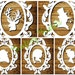 Christmas Silhouettes and Frame - CYO Papercutting Template