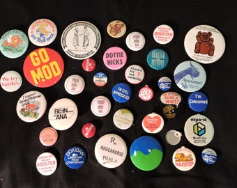35 Pin Back Buttons some good ones
