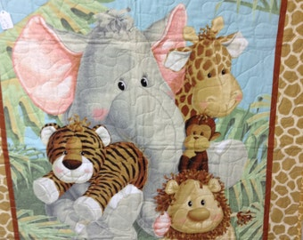 Jungle Babies Baby Quilt
