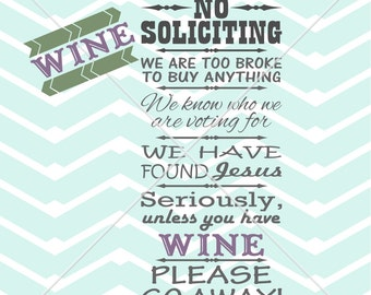 No Soliciting Decal Etsy