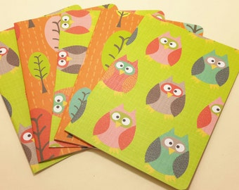 Give a Hoot/ blank note card set