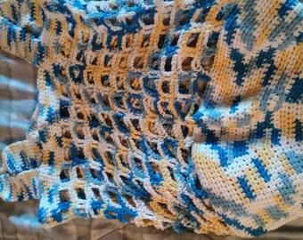 Hand Crocheted Large Beach Bag, Over Night Bag, etc.