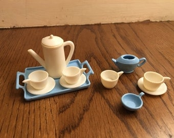 Vintage Barbie Tea Set with Tray