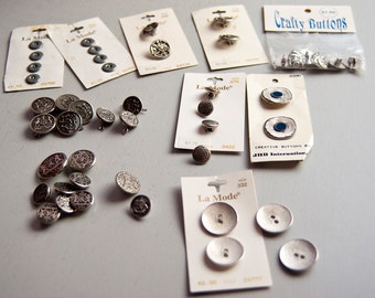 Silver toned buttons