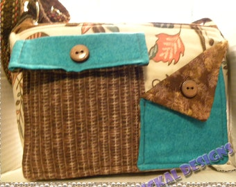 Pockets, Pockets, Pockets Handbag- Retro Teal