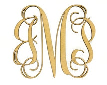 """Wooden Monogram - Unfinished, Cursive Wooden Letter - Perfect for Crafts, DIY, Weddings - Sizes 1"""" to 42"""""""