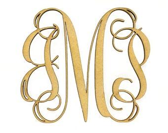Customized Wooden Monogram | Bridesmaid Gift | Wedding Monogram | Unfinished, Ready to Paint | Wood Monogram | Customized Monogram