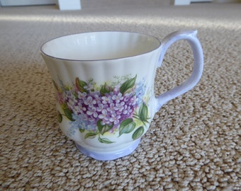 Royal Albert Blossom Time Series LILAC Mug Circa 1966 - 1970's