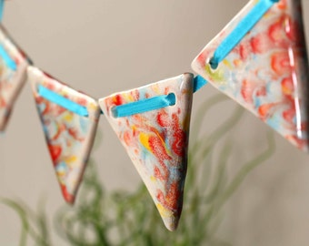 Sets of Earthenware Ceramic Bunting (Various Colours)