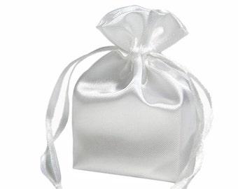 Large White Satin Gift Bag