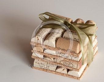 Wine Cork Crafts Gift, Wine Cork Coasters Set of 4 Wine Cork Crafts, Mothers Day Gift Ideas , Wine Decor, Gift For Men
