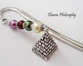 Egyptian Pyramid Bookmark - Gifts for History Teachers - Unique Beaded Bookmark