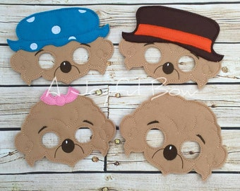Bear Family dress up and party favor masks, Berenstain bears family, berenstain bears gifts, berenstain bears gifts, berenstain bear party