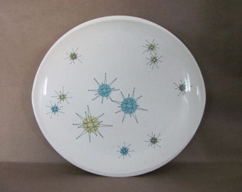 Vintage Starburst Dinner Plate, 1950's Franciscan Starburst Dinner Plate, Large Plate, Atomic Starburst Plate, 1950's, Mid Century Decor