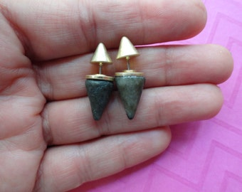 Double sided spike  earrings