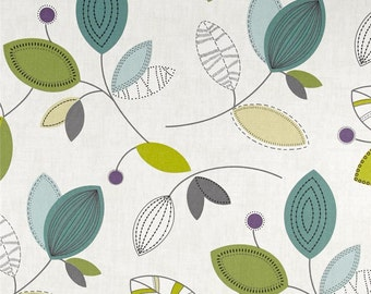 Calder Jewel cotton fabric by the yard floral modern Magnolia Home Fashions