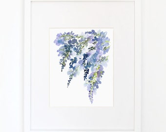 Wisteria II - Watercolor Art Print