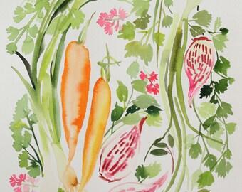 "12"" x 16"" Vegetable Medley - Original Painting"