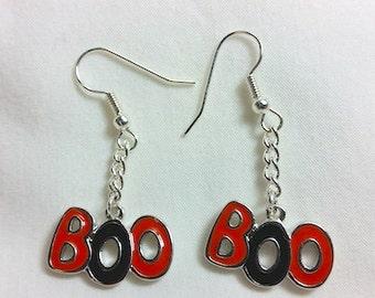 Friendly BOO Halloween Earrings