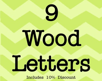Larson Designs 9 Wood Letters with Ribbons with 10% discount