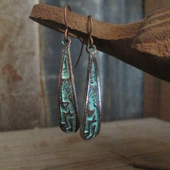 Metal Earrings, Kopapeli Earrings, Brass Earrings, Earrings