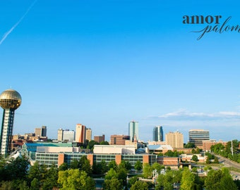 Knoxville's Skyline in Color - Downtown Knoxville Photo
