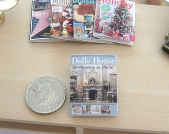 dollhouse magazine springtime in paris  12th scale miniature x 1