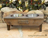 Elevated Barnwood Feeding Stations