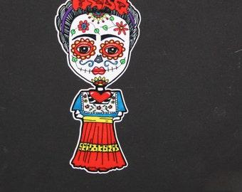 Dia de los Muertos Frida vinyl car sticker #114