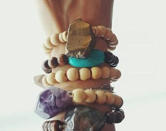 Wood + Minerals bracelet