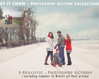 Photoshop Snow Action Collection - Let it Snow