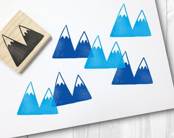 snow capped mountain rubber stamp - FREE SHIPPING WORLDWIDE*