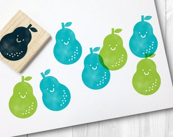 pear rubber stamp - FREE SHIPPING WORLDWIDE*