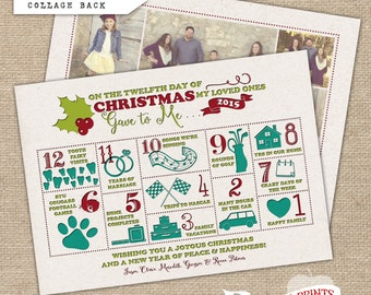 Christmas Infographic Card Countdown (Letterpress Style)